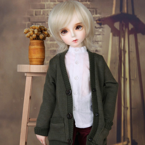 KDF Colorful Cardigan (Khaki)