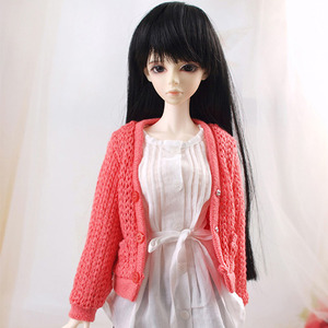 SDF GIRL KNIT CARDIGAN (Orange Pink)