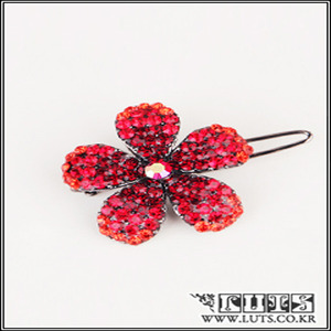 DAISY PIN (Dark Red)