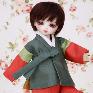KHAKI HANBOK SET For Honey Delf (Pre-order)