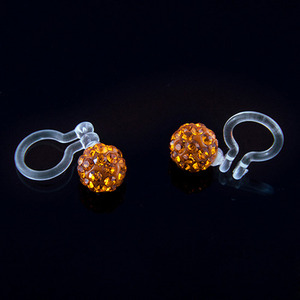 6mm Ear Cuff Ball (Orange)