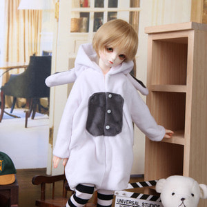 KDF Rabbit Jumpsuit Set (White)