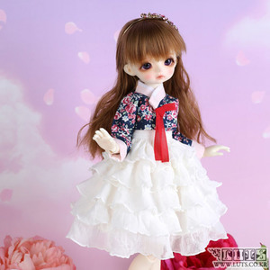 HDF Frill Flower Hanbok set (White)