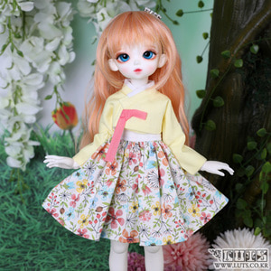 HDF Candy Flower Hanbok set (Lemon)