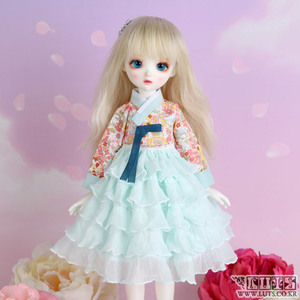 HDF Frill Flower Hanbok set (Mint)