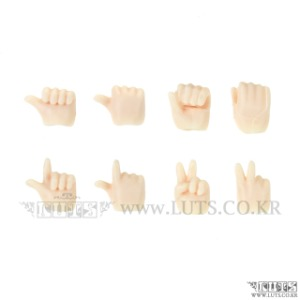 Hands Set A For Obitsu 11 Body (White/Matt Skin)