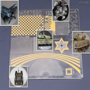 Border Model Lines Geometry Mask Cutting Mat (304 Stainless Steel)(BD0012)
