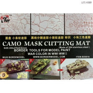 Border Model Camo Mask Cutting Mat (For First & Second World War tanks)(BD0014)