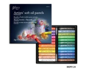 Mungyo Gallery Soft Oil Pastel 24 Color Set / MOPV-24
